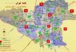 نقشه اتوکد مناطق تهران +تفکیک شده