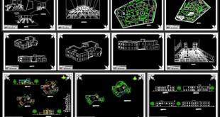 دانلود نقشه های دانشکده هنر و معماری