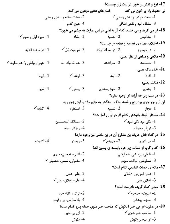 دانلود سوالات استخدامی شرکت پالایش نفت اصفهان